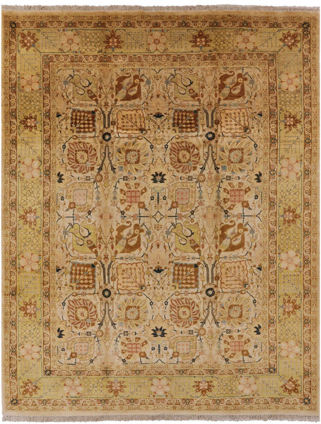 "Peshawar Hand Knotted Rug - 9' 2"" X 11' 7"" - Golden Nile"