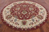 Oriental Red & Ivory Round Oushak Wool Rug 10 X 10 - Golden Nile