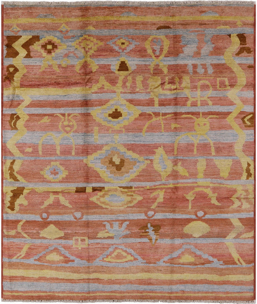 "Navajo Handmade Wool Area Rug - 8' 2"" X 9' 5"" - Golden Nile"