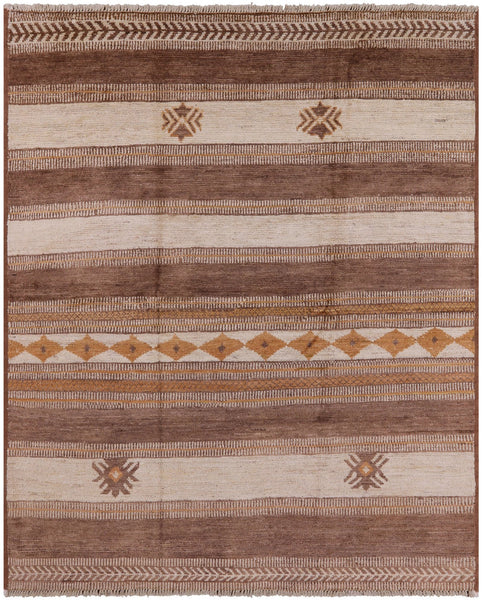 "Moroccan Southwest Navajo Hand Knotted Area Rug - 7' 6"" X 9' 1"" - Golden Nile"