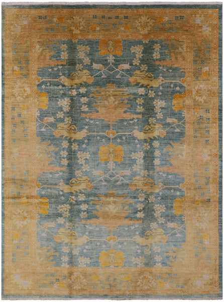 "Peshawar Hand Knotted Wool Rug - 9' X 12' 3"" - Golden Nile"