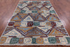 "Ikat Hand Knotted Rug - 5' 9"" X 8' 4"" - Golden Nile"