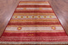 "Signed Moroccan Southwest Navajo Design Handmade Area Rug - 6' 3"" X 9' 1"" - Golden Nile"