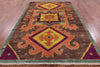 "Arts & Crafts Hand Knotted Wool Area Rug - 6' 3"" X 9' 4"" - Golden Nile"