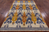 "Ikat Handmade Wool Area Rug - 5' 10"" X 8' 6"" - Golden Nile"