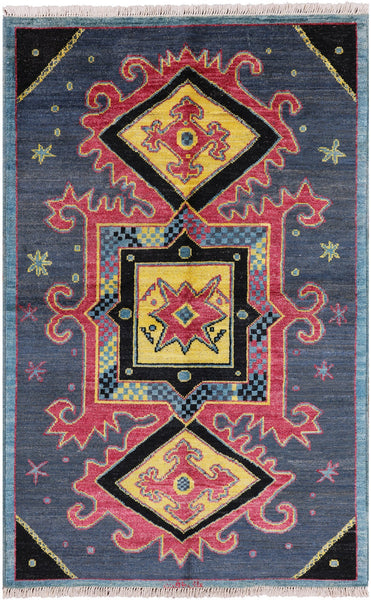 "Arts & Crafts Hand Knotted Wool Area Rug - 5' 2"" X 7' 10"""