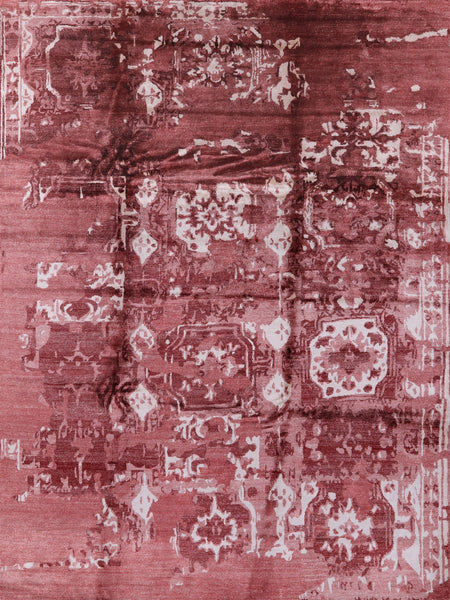 "Oriental Abstract Silk Rug - 9' 2"" X 12' 2"" - Golden Nile"