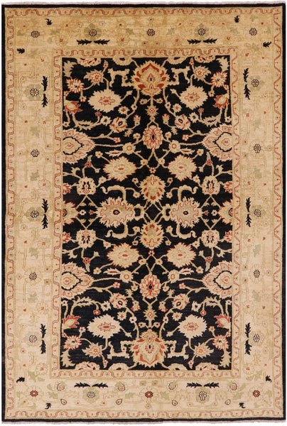 "Hand Knotted Peshawar Rug - 6' 1"" X 8' 10"" - Golden Nile"