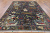 Pictorial Of Village Afghan Wool on Wool Rug 6 X 10 - Golden Nile