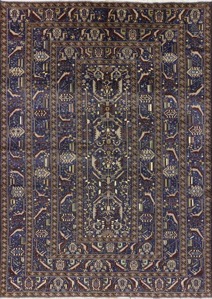 Tribal Collection Oriental Wool on Wool Rug 7 X 9 - Golden Nile