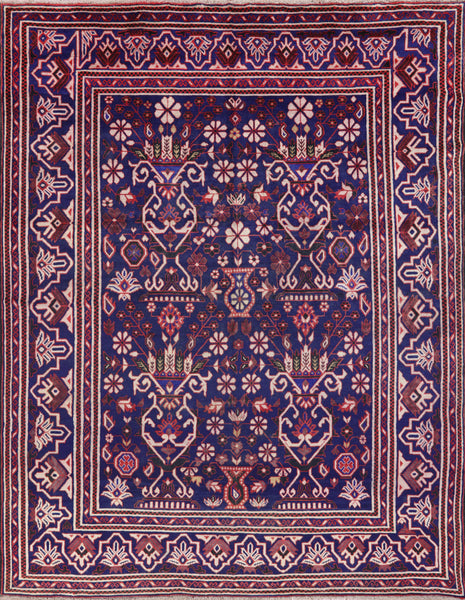 Baluch Collaction Oriental Wool on Wool Rug 7 X 9 - Golden Nile