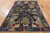 Wool On Wool Balouch Area Rug 6 X 9 - Golden Nile