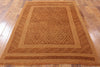 Overdyed Wool Area Rug  5 X 6 - Golden Nile