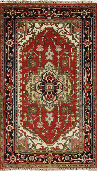 3 X 5 Heriz Oriental Area Rug - Golden Nile