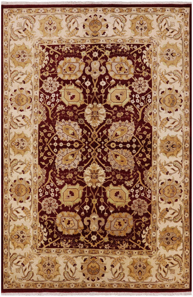 "Peshawar Hand Knotted Area Rug - 6' 2"" X 9' 3"" - Golden Nile"