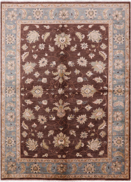 "Peshawar Hand Knotted Rug - 6' 5"" X 8' 9"" - Golden Nile"