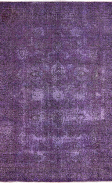 7 X 10 Oriental Purple Overdyed Rug -  Golden Nile