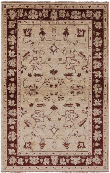 "Peshawar Hand Knotted Wool Rug - 3' 10"" X 6' - Golden Nile"
