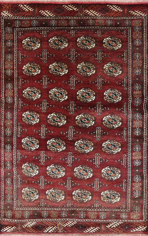 Persian 4 X 6 Bokhara Design Wool Area Rug