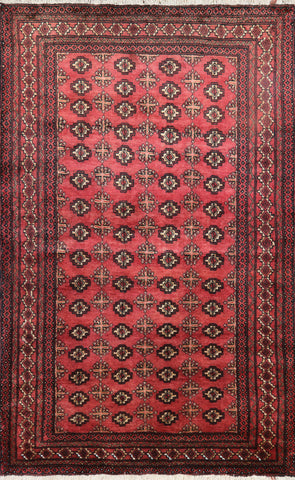 Traditional Persian Oriental Bokhara Design Area Rug 5 X 7