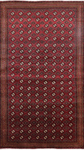 Hand Knotted Traditional Persian Bokhara Area Rug 5 X 8
