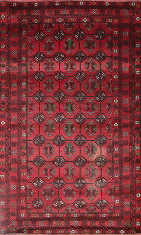 Persian 4 X 6 Oriental Bokhara Design Wool On Wool Rug
