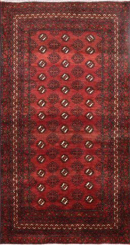Persian Hand Knotted Bokhara Design Oriental Area Rug 4 X 7