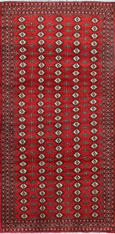 Traditional Persian Wool 4 X 9 Bokhara Area Rug