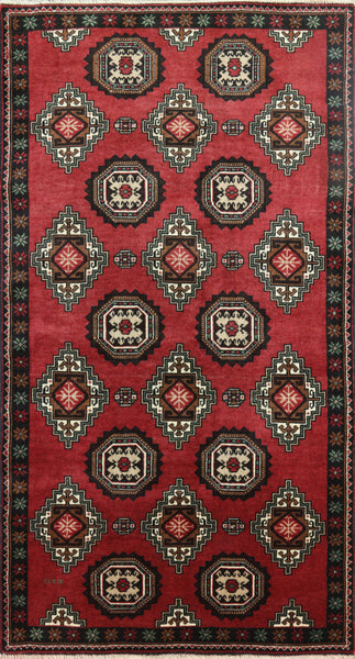 3 X 6 Traditional Oriental Handmade Persian Area Rug - 7Rugs - 1