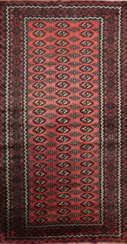 Traditional Wool On Wool Persian Bokhara Area Rug 4 X 8