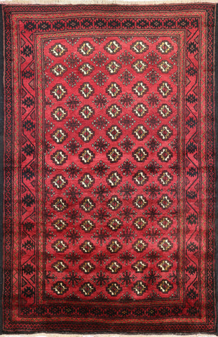 4 X 7 Wool On Wool Persian Bokhara Area Rug