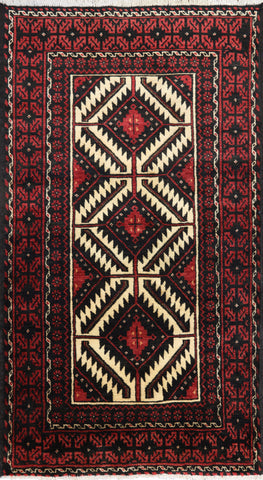Persian Hand Knotted 3 X 6 Area Rug