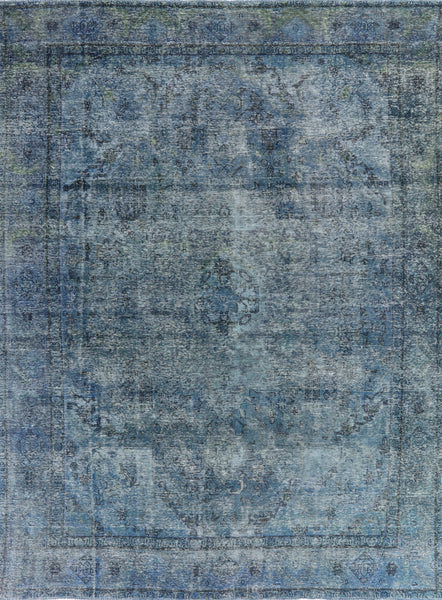 10 X 13 Traditional Wool Overdyed Area Rug - 7Rugs - 1