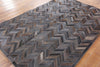 5 X 7 Cowhide Patchwork Rug - Golden Nile