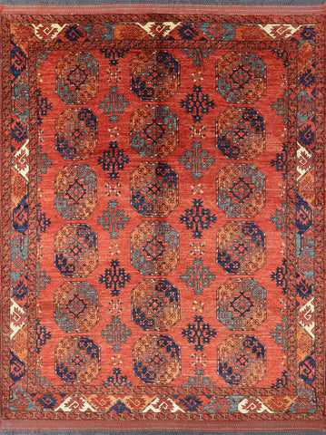 8 x 10 Persian Ersari Wool on Wool Area Rug