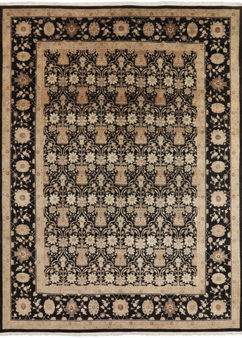9 X 12 Persian French Design Hand Knotted Area Rug