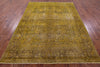 Hand Knotted Overdyed Area Rug 7 X 9 -  Golden Nile