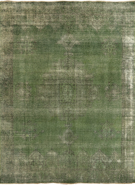 Hand Knotted Overdyed Area Rug 9 X 12 -  Golden Nile