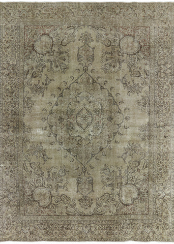 Oriental 9 X 12 Overdyed Area Rug