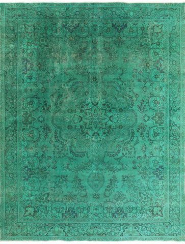 Hand Knotted Overdyed Area Rug 9 X 13