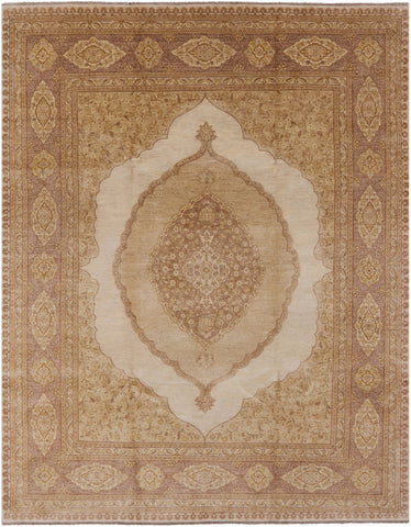 Traditional Persian Tabriz Area Rug 8 X 10
