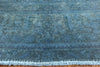 Hand Knotted Overdyed Area Rug 7 X 11 -  Golden Nile