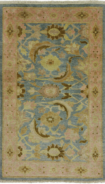 Oriental Blue Peshawar 3 X 5 Area Rug -  Golden Nile