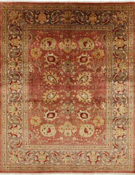 Traditional Peshawar 9 X 12 Area Rug - Golden Nile