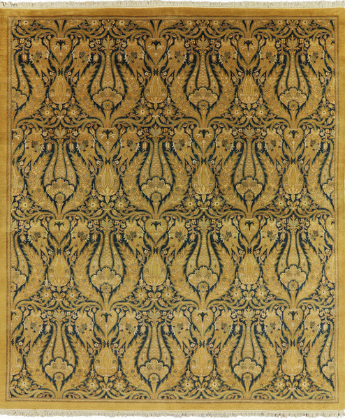 8 X 9 Persian Suzani Hand Knotted Area Rug -  Golden Nile