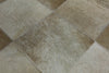 3 X 10 Patchwork Cowhide Runner Rug - Golden Nile