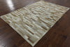 Cowhide Lines Patchwork Rug 6 X 9 - Golden Nile