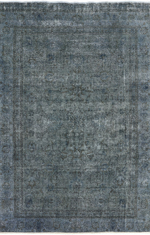 Overdyed Oriental Area Rug 7 X 11