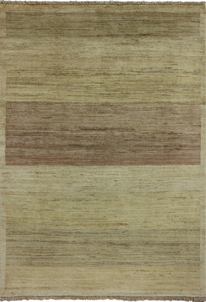 4 X 6 Hand Knotted Gabbeh Area Rug - Golden Nile