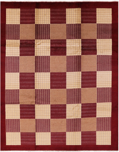"Gabbeh Hand Knotted Rug - 8' 3"" X 10' 5"" - Golden Nile"